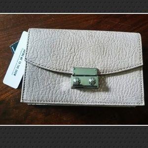 NWT Express Event Clutch Bag- Metallic Blush
